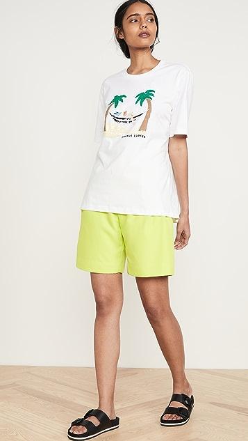 Markus Lupfer Alex Sequin Beach Hammock T 恤