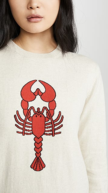 Markus Lupfer Mia Intarsia Lobster Sweater