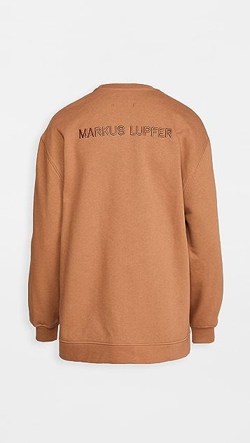 Markus Lupfer Josie 彩色唇形刺绣运动衫