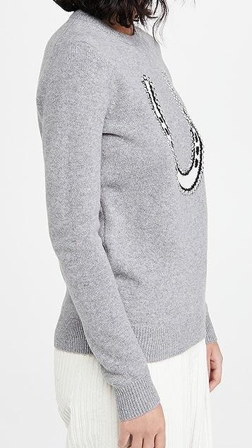 Markus Lupfer Mia Embellished Intarsia Sweater