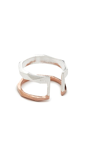 Maya Magal Faceted Stripe Ring