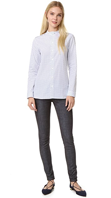 Marie Marot Diana Frilly Collar Shirt