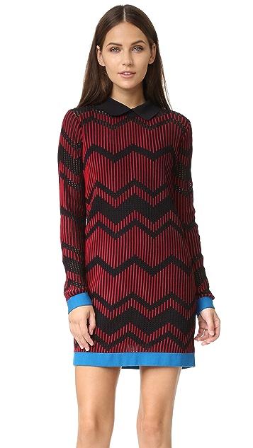 M Missoni Bicolor Zigzag Dress