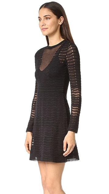 M Missoni Solid Zigzag Knit Dress