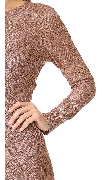 M Missoni Lurex One Shoulder Maxi Dress