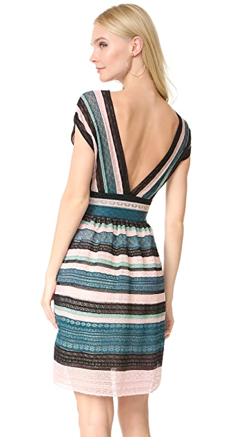 M Missoni V Neck Mini Dress