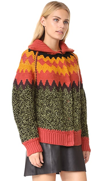M Missoni Fair Isle Cardigan