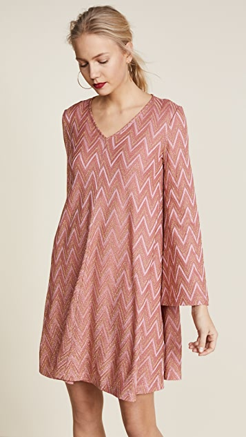 M Missoni Flare Sleeve Mini Dress