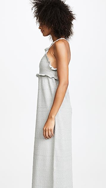 M Missoni Ruffle Halter Gown