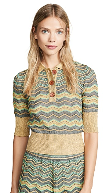 M Missoni Printed Polo Top