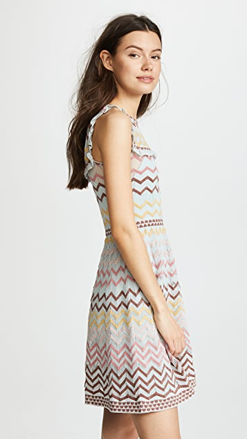 M Missoni Ruffle Bib Dress