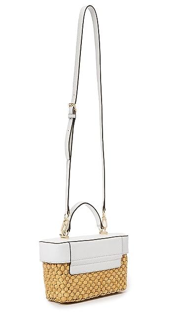 MICHAEL Michael Kors Соломенная сумка-портфель Gabriella среднего размера