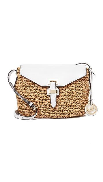 MICHAEL Michael Kors Naomi Straw Messenger Bag