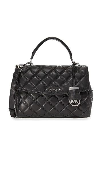 MICHAEL Michael Kors Стеганая небольшая сумка-портфель Ava