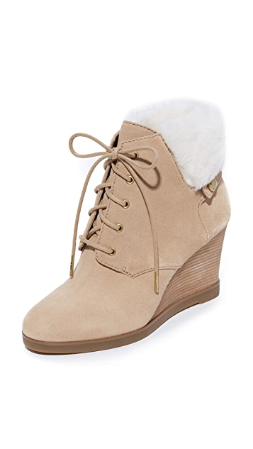 MICHAEL Michael Kors Carrigan Shearling Wedge Booties