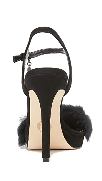 MICHAEL Michael Kors Faye Fur Sandals