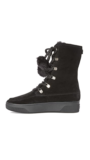 MICHAEL Michael Kors Juno Faux Fur Lace Up Boots