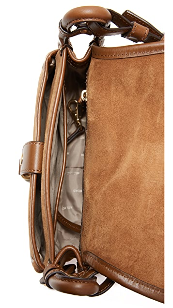 MICHAEL Michael Kors Shearling Jamie Saddle Bag