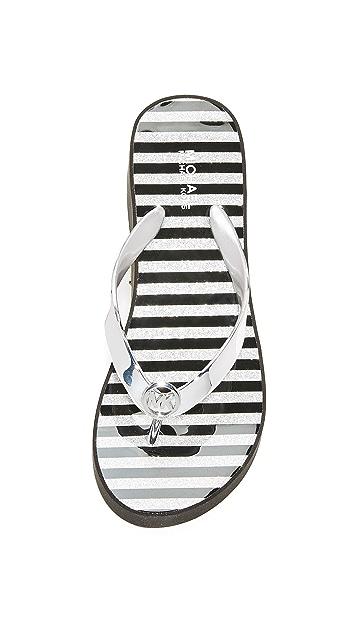 MICHAEL Michael Kors Bedford Wedge Flip Flops
