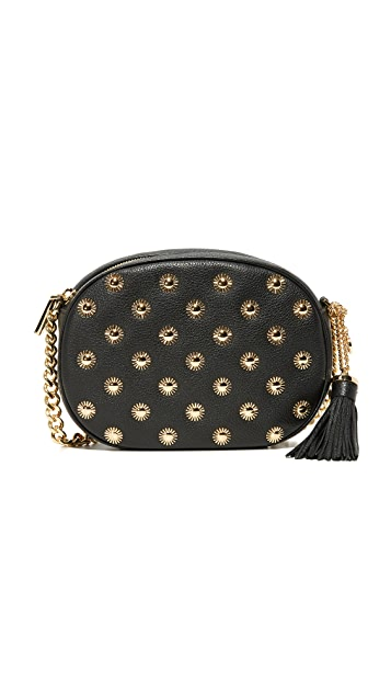 MICHAEL Michael Kors Medium Ginny Messenger Bag with Starbust Hardware