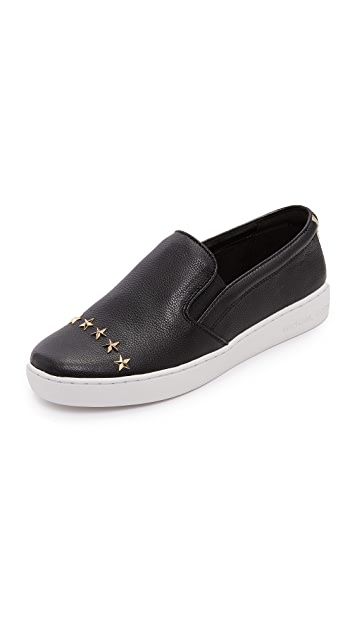 MICHAEL Michael Kors Keaton Star Studded Platform Slip On Sneakers