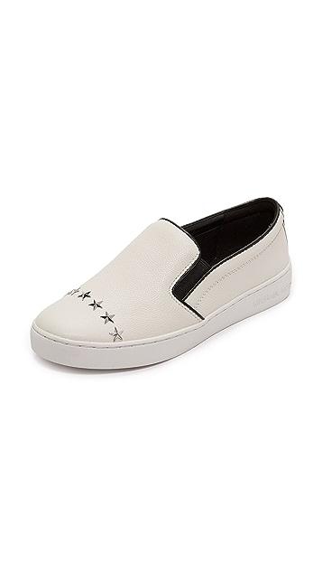 MICHAEL Michael Kors Keaton Star Studded Platform Slip On Sneakers