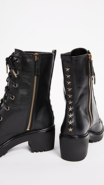 MICHAEL Michael Kors Cody Star Studded Combat Boots