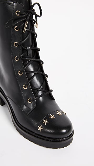 MICHAEL Michael Kors Cody Star Studded Combat Boots
