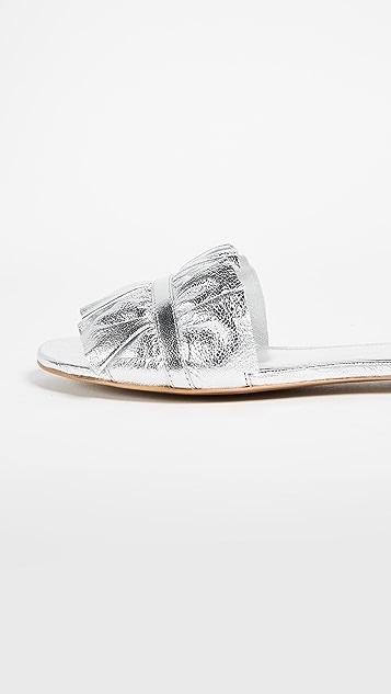 MICHAEL Michael Kors Bella Ruffle Slides