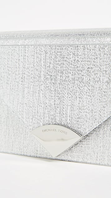 MICHAEL Michael Kors Barbara Metallic Envelope Clutch