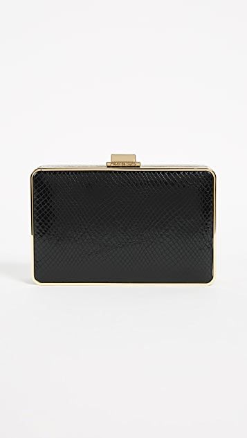 MICHAEL Michael Kors Imitation Pearl Box Clutch - Black