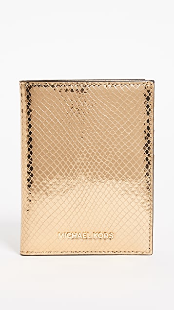 MICHAEL Michael Kors Money Pieces Passport Wallet - Gold