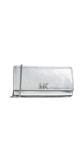 MICHAEL Michael Kors Mott Large Clutch with Chain