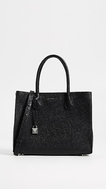 MICHAEL Michael Kors Large Mercer Convertible Tote Bag - Black