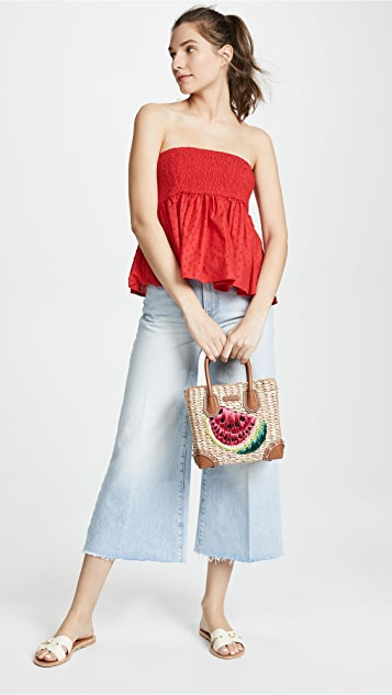 MICHAEL Michael Kors Medium Straw Tote