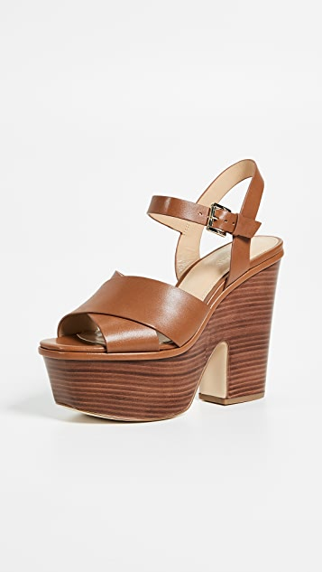 MICHAEL Michael Kors Divia Wedges - Luggage