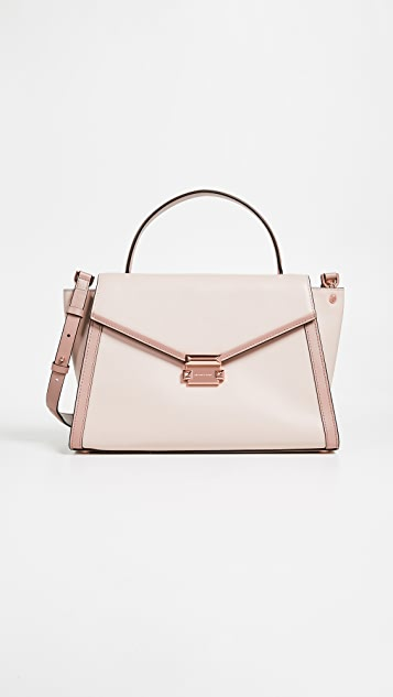 e6585f3acf70dc MICHAEL Michael Kors Whitney Medium Satchel | SHOPBOP