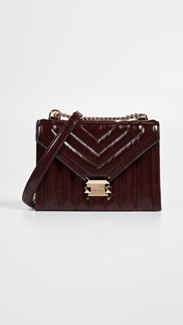 MICHAEL Michael Kors Whitney Panel Quilt Crackle Shoulder Bag