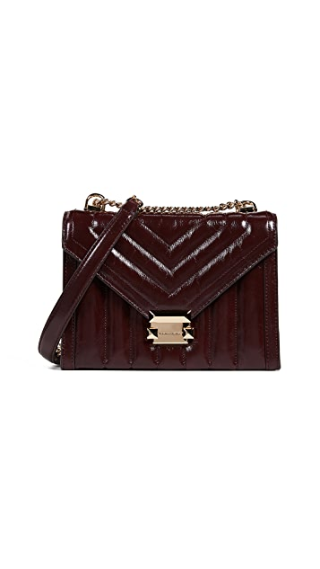 MICHAEL Michael Kors Whitney Panel Quilt Crackle Shoulder Bag