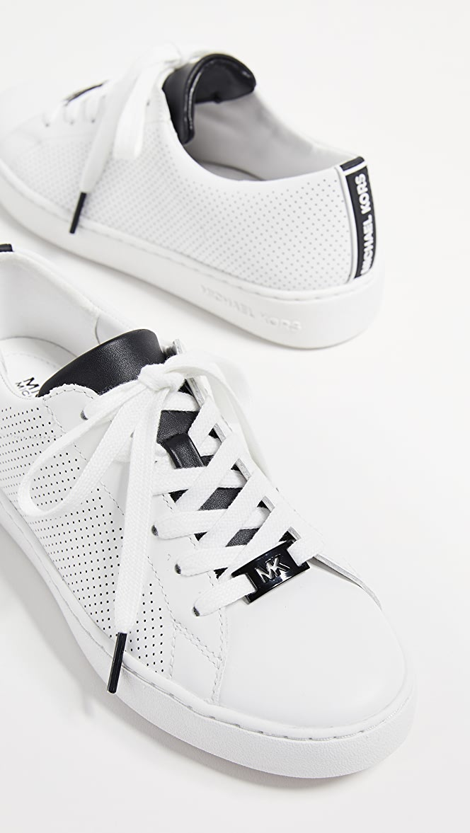 michael kors keaton lace up trainers