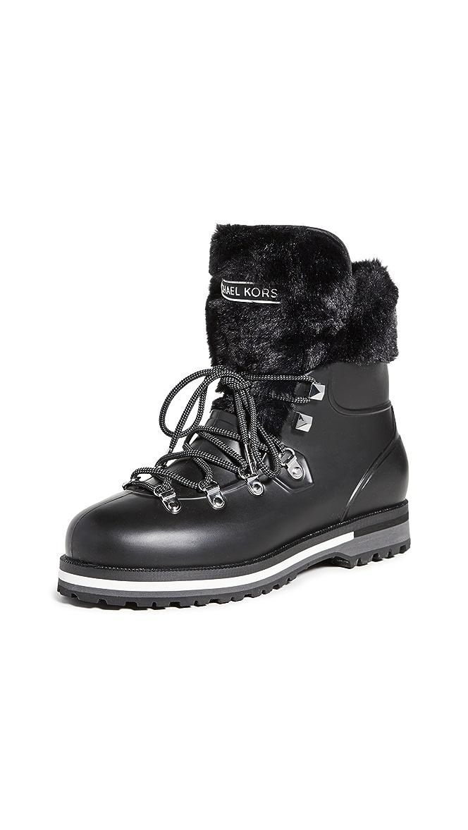 michael kors black rubber boots