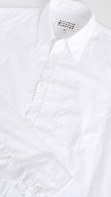 Maison Margiela Garment Dyed Slim Fit Button Down Shirt