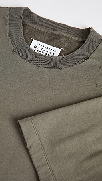 Maison Margiela Oversized Distressed Stonewash T-Shirt