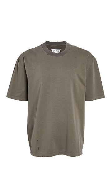 Maison Margiela Oversized Distressed Stonewash T-Shirt