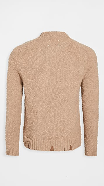 Maison Margiela Distressed Casentino Crew Neck Sweater