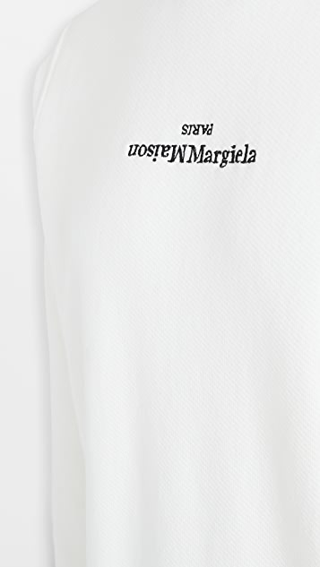 Maison Margiela Upside Down Margiela Logo Crew Neck Shirt
