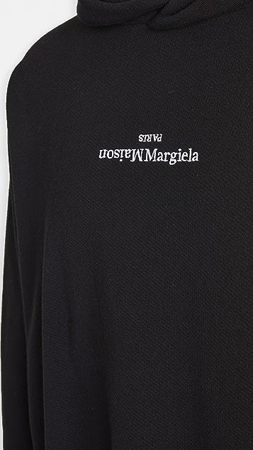 Maison Margiela UpsideDown Margiela Logo Pullover Hoodie