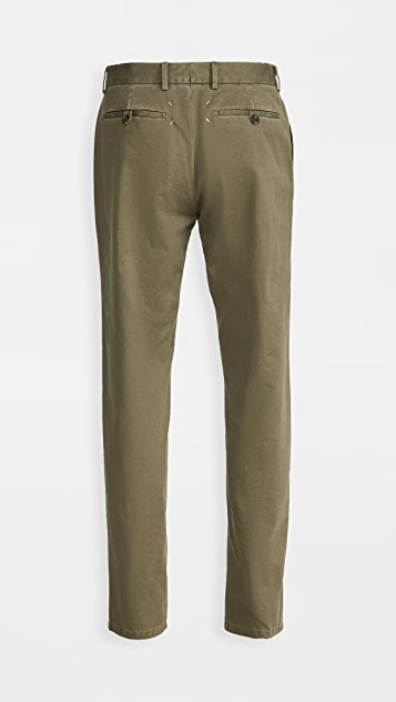 Maison Margiela Garment Dyed Regular Fit Chino Pants