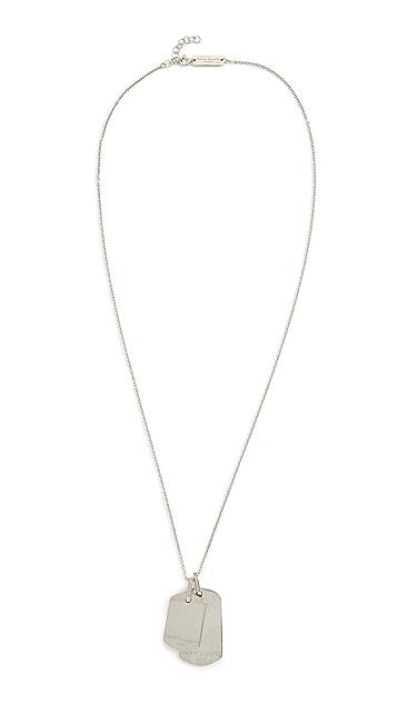 Maison Margiela Logo Plate Necklace
