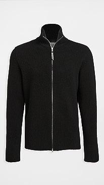 메종 마르지엘라 스웨터 Maison Margiela Zip Up Sweater,Black